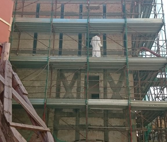 Rinforzo strutturale pareti edificio in centro storico